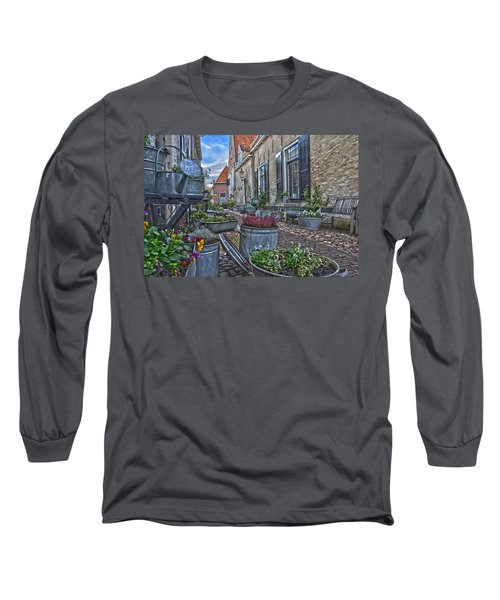 Elburg Alley Long Sleeve T-Shirt by Frans Blok