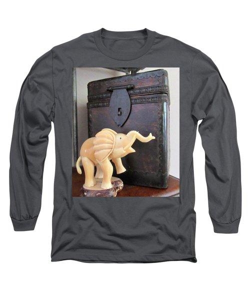Elephant With Elephant Box Long Sleeve T-Shirt