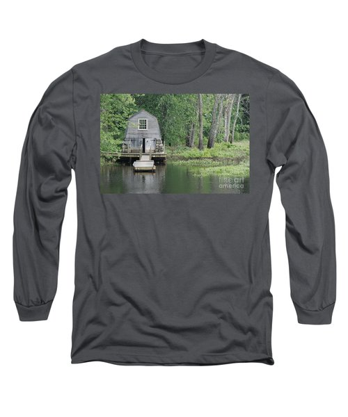 Emerson Boathouse Concord Massachusetts Long Sleeve T-Shirt by Amy Porter