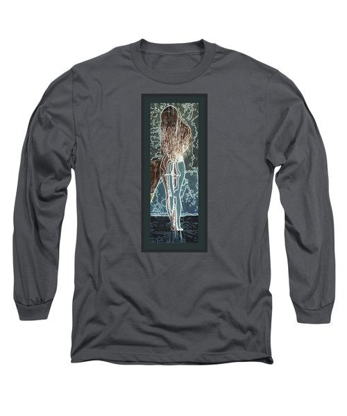 Long Sleeve T-Shirt featuring the digital art Emotionally Fragile by Paula Ayers