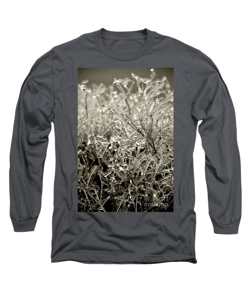Encased In Ice IIi Long Sleeve T-Shirt by Bonnie Myszka