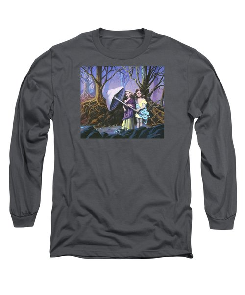 Enchanted Forest Long Sleeve T-Shirt by Vivien Rhyan