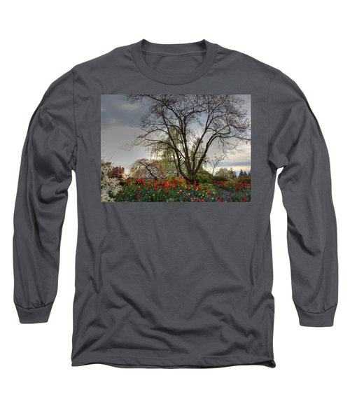 Long Sleeve T-Shirt featuring the photograph Enchanted Garden by Eti Reid