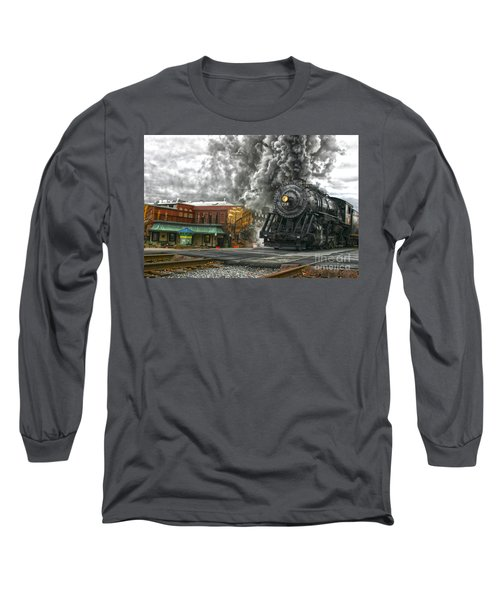 Engine 734 On The Western Maryland Scenic Railroad  Long Sleeve T-Shirt