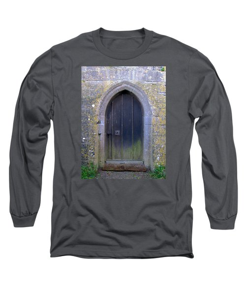 Enter At Your Own Risk Long Sleeve T-Shirt by Suzanne Oesterling