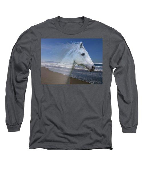 Equine Shores Long Sleeve T-Shirt by Athena Mckinzie
