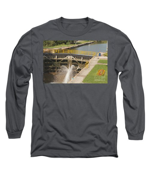 Long Sleeve T-Shirt featuring the photograph Erie Canal Lock by William Norton