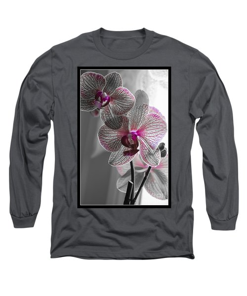 Ethereal Orchid Long Sleeve T-Shirt by Bianca Nadeau
