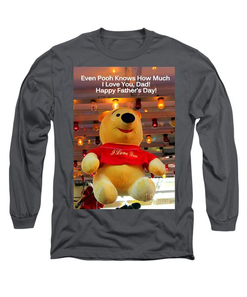 Even Pooh Knows Card Long Sleeve T-Shirt