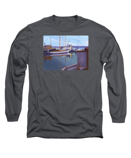 Long Sleeve T-Shirt featuring the painting Evening On Malaspina Strait by Gary Giacomelli