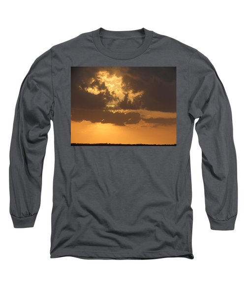 Long Sleeve T-Shirt featuring the photograph Evening Over Lake George by Fortunate Findings Shirley Dickerson