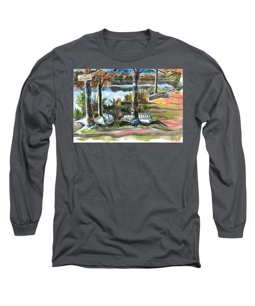 Evening Shadows At Shepherd Mountain Lake  No W101 Long Sleeve T-Shirt by Kip DeVore