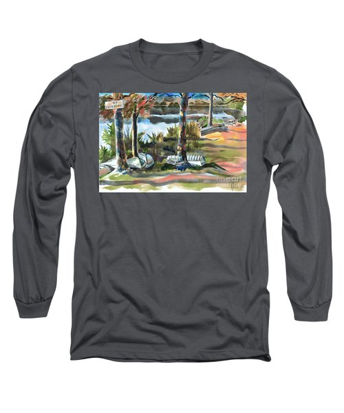 Evening Shadows At Shepherd Mountain Lake  No W101 Long Sleeve T-Shirt