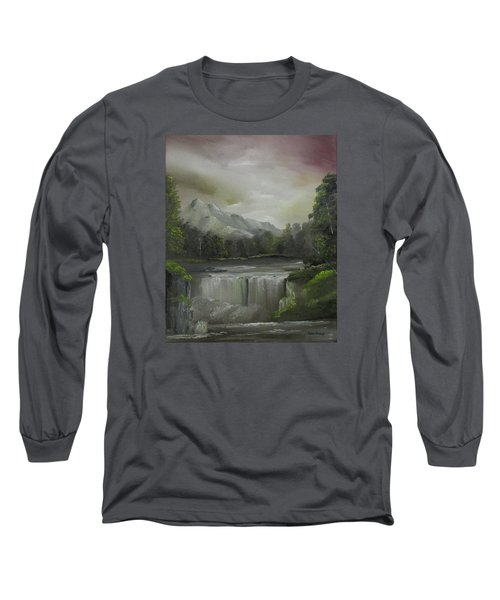 Evening Waterfalls Long Sleeve T-Shirt