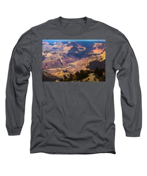 Expanse At Desert View Long Sleeve T-Shirt by Ed Gleichman