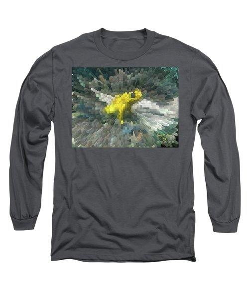 Long Sleeve T-Shirt featuring the photograph Extrude Yellow Frog by Donna Brown