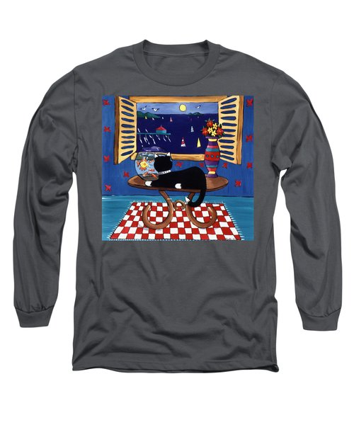 Long Sleeve T-Shirt featuring the painting Eye On Lunch by Lance Headlee