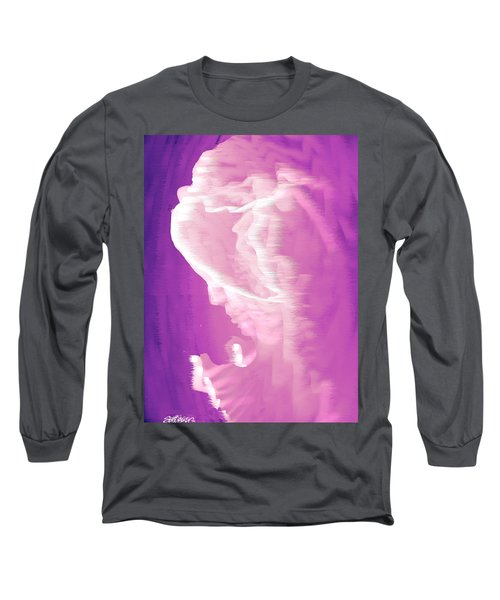 Face In The Clouds Long Sleeve T-Shirt by Seth Weaver