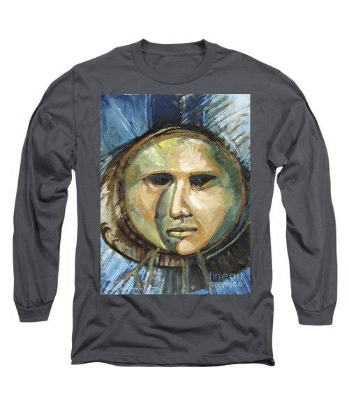 Faced With Blue Long Sleeve T-Shirt