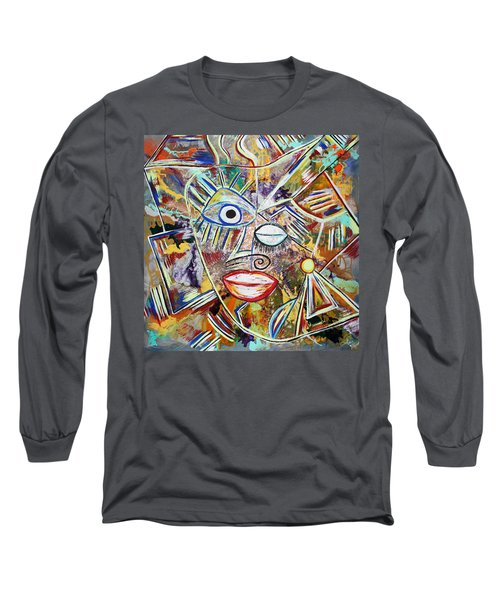 Faces In Life - Just Smile Long Sleeve T-Shirt