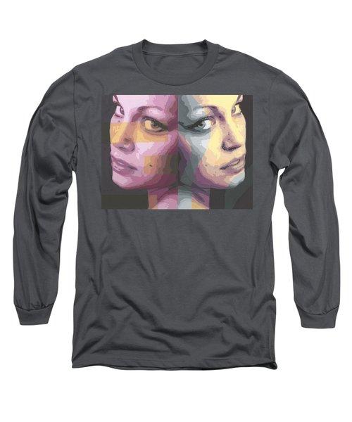 Faces Long Sleeve T-Shirt by Rachel Hames