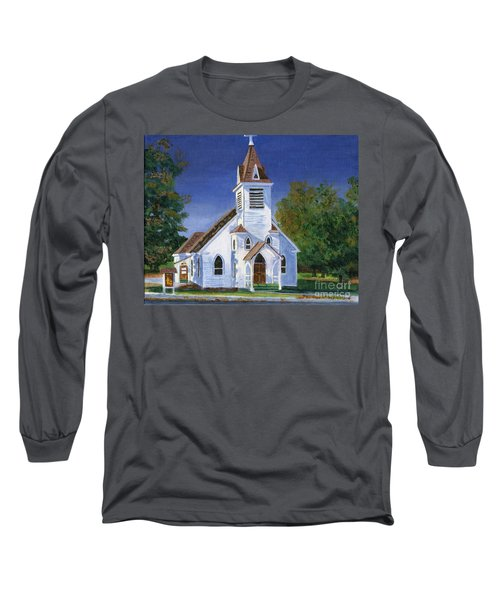 Fall Church Long Sleeve T-Shirt by Lynne Reichhart