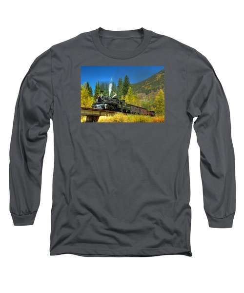 Fall Colored Bridge Long Sleeve T-Shirt by Ken Smith