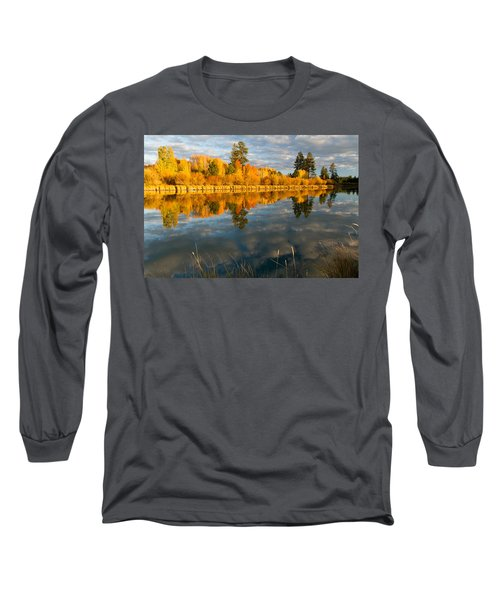 Fall Fractal Long Sleeve T-Shirt by Kevin Desrosiers