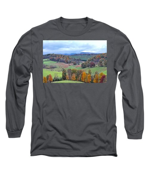 Long Sleeve T-Shirt featuring the photograph Fall In Virginia by Denise Romano