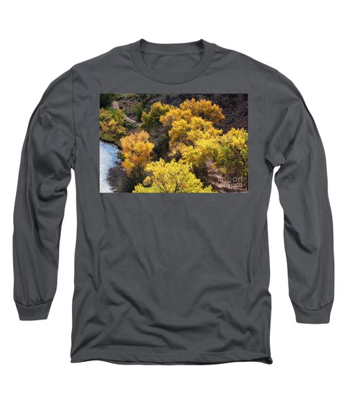 Long Sleeve T-Shirt featuring the photograph Fall On The Chama River by Roselynne Broussard