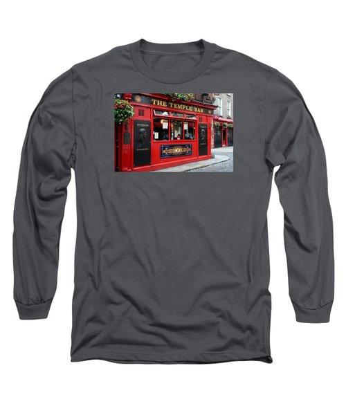 Famous Temple Bar In Dublin Long Sleeve T-Shirt by IPics Photography