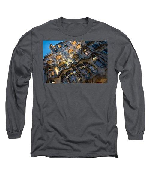 Fantastical Casa Batllo - Antoni Gaudi Barcelona Long Sleeve T-Shirt