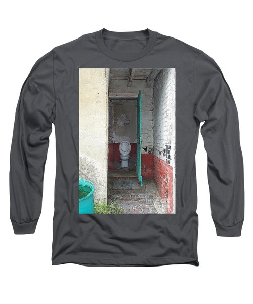 Long Sleeve T-Shirt featuring the photograph Farm Facilities by HEVi FineArt