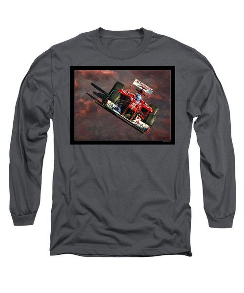 Fernando Alonso Ferrari Long Sleeve T-Shirt