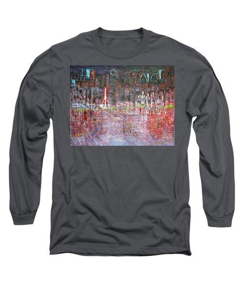 Ferris Wheel Fun - Sold Long Sleeve T-Shirt by George Riney