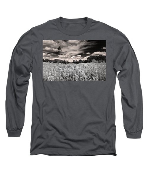Fields Of Gold And Clouds Long Sleeve T-Shirt by Mitchell R Grosky