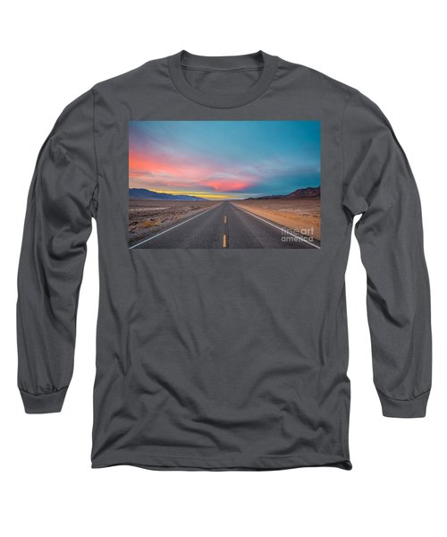 Fiery Road Though The Valley Of Death Long Sleeve T-Shirt