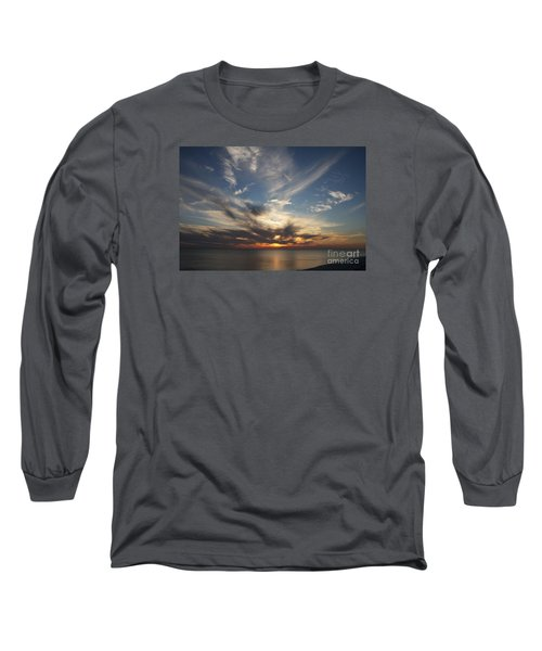 Long Sleeve T-Shirt featuring the photograph Fiery Sunset Skys by Christiane Schulze Art And Photography