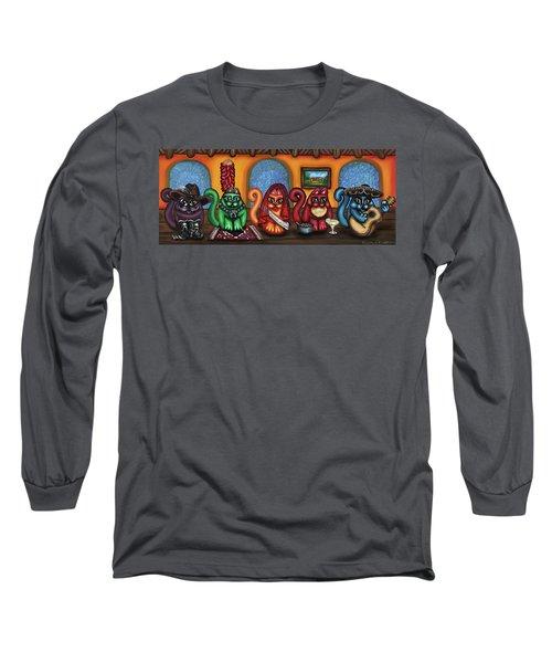 Fiesta Cats Or Gatos De Santa Fe Long Sleeve T-Shirt