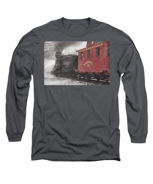 Fighting Through The Winter Storm Long Sleeve T-Shirt by Ken Smith