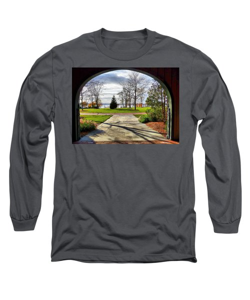 Finger Lakes View From Mackenzie Childs  Long Sleeve T-Shirt by Mitchell R Grosky