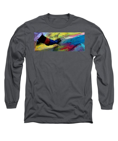 Long Sleeve T-Shirt featuring the painting Fingerpainting by Lisa Kaiser