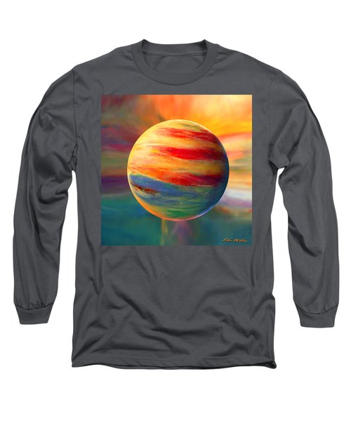 Fire And Ice Ball  Long Sleeve T-Shirt