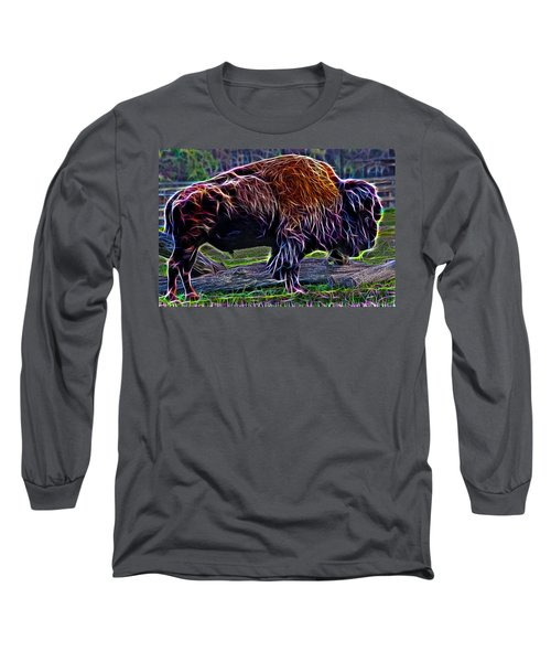 Fire Of A Bison  Long Sleeve T-Shirt