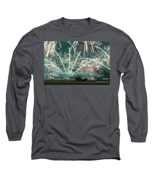 Fireworks And Aircraft Long Sleeve T-Shirt