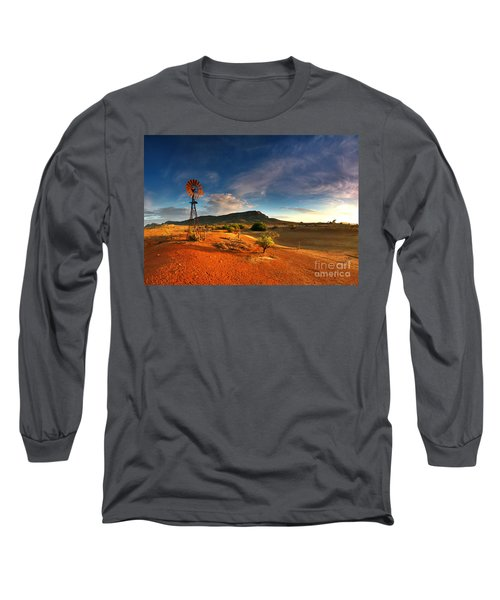 First Light On Wilpena Pound Long Sleeve T-Shirt