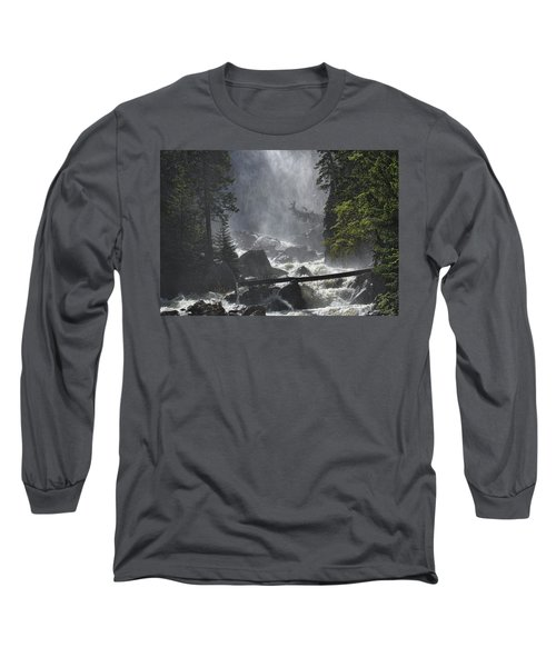 Long Sleeve T-Shirt featuring the photograph Fish Creek Mist by Don Schwartz