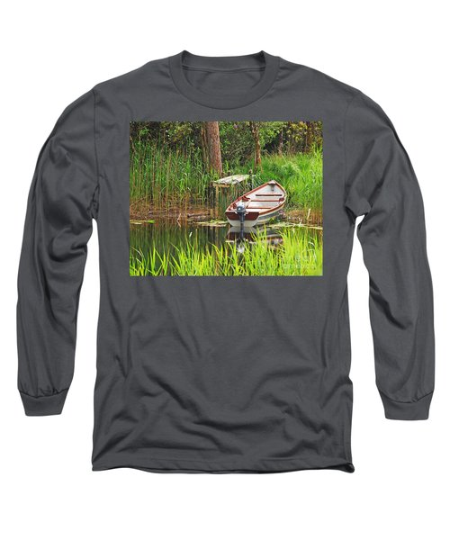 Long Sleeve T-Shirt featuring the photograph Fishing Boat by Mary Carol Story