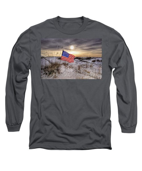 Flag On The Beach Long Sleeve T-Shirt