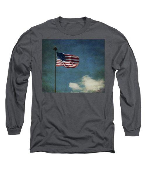Flag - Still Standing Proud - Luther Fine Art Long Sleeve T-Shirt